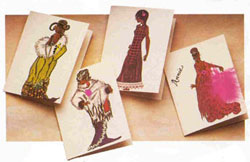 Picture of Black Fashional Ladies Cards