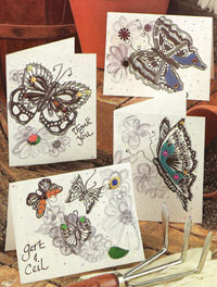 Pictures of Butterfly Style Cards
